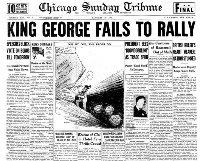 Chicago Sunday Tribune Jan 19, 1936