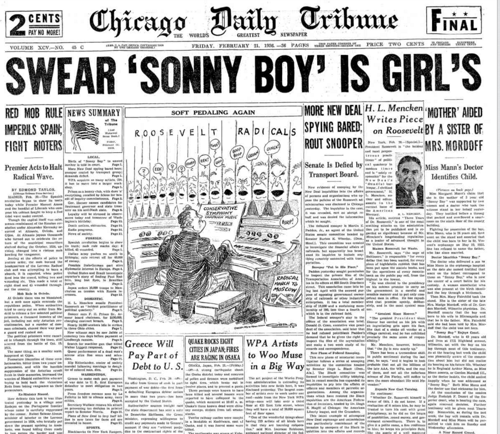 Chicago Daily Tribune Feb 21, 1936