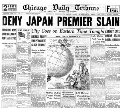 Chicago Daily Tribune Feb 29, 1936