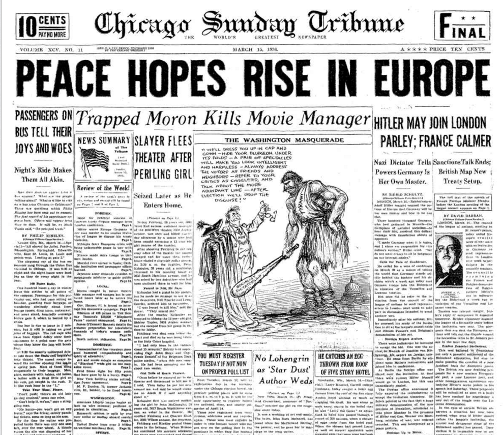 Chicago Sunday Tribune March 15, 1936