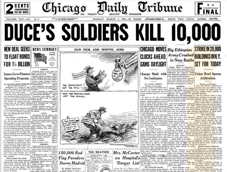 Chicago Daily Tribune March 2, 1936
