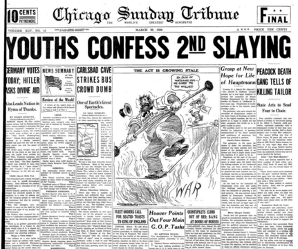 Chicago Sunday Tribune March 29, 1936
