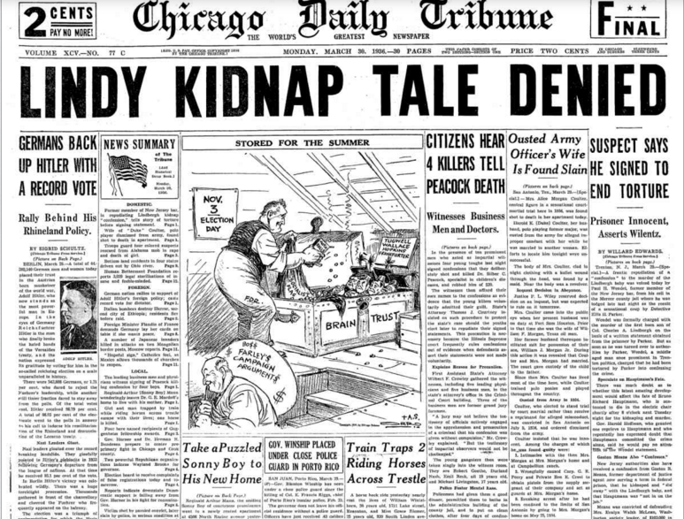 Chicago Daily Tribune March 30, 1936