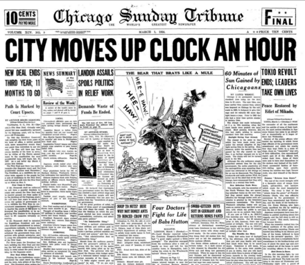 Chicago Sunday Tribune March 1, 1936