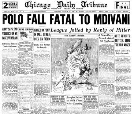 Chicago Daily Tribune March 16, 1936