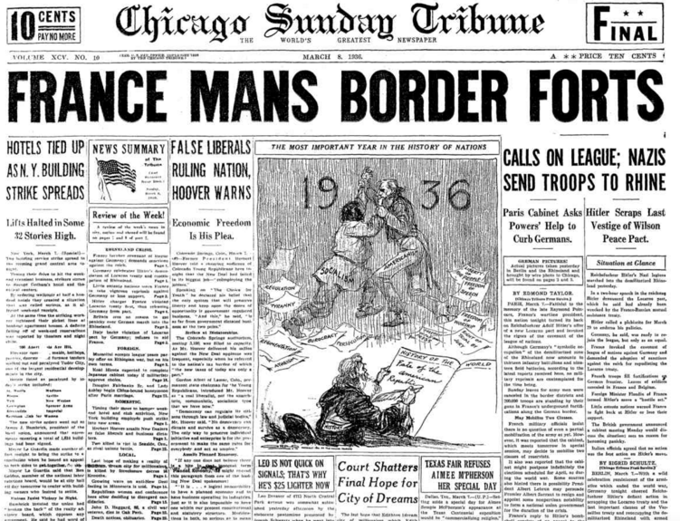 Chicago Sunday Tribune March 8, 1936
