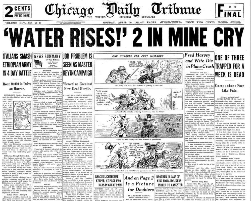 Chicago Daily Tribune April 20, 1936