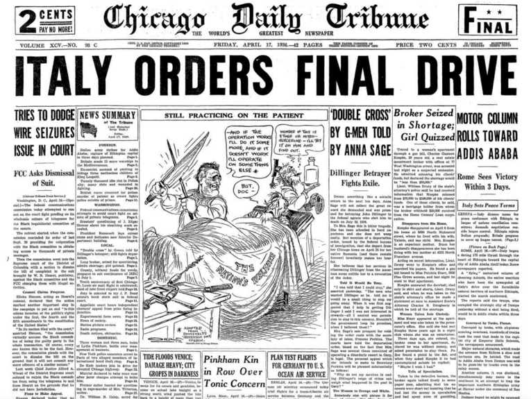 Chicago Daily Tribune April 17, 1936