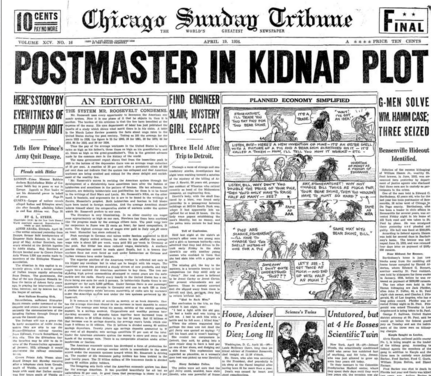Chicago Sunday Tribune April 19, 1936