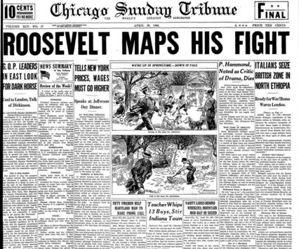 Chicago Sunday Tribune April 26, 1936