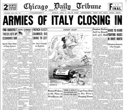 Chicago Daily Tribune April 27, 1936