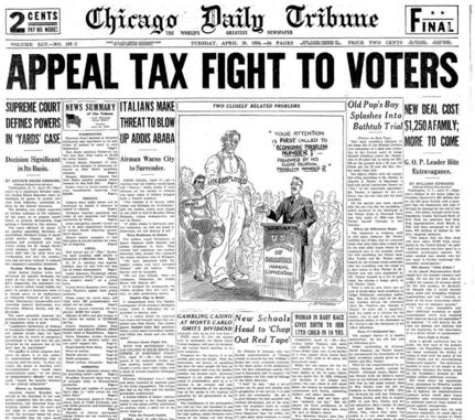 Chicago Daily Tribune April 28, 1936