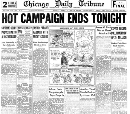Chicago Daily Tribune April 13, 1936