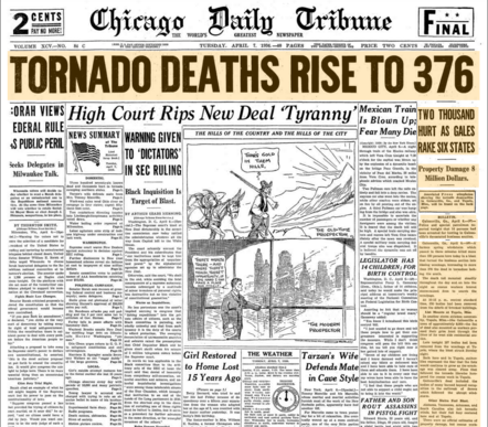 Chicago Daily Tribune April 7, 1936