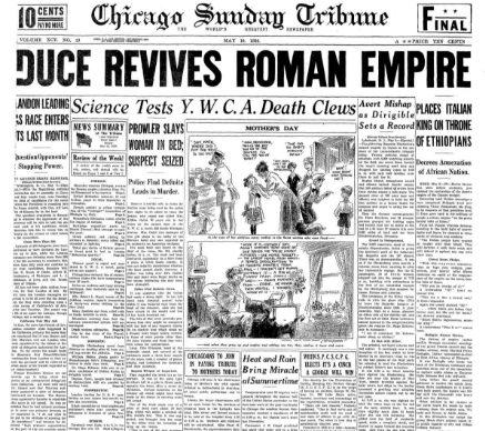 Chicago Sunday Tribune May 10, 1936