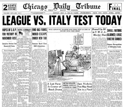 Chicago Daily Tribune May 11, 1936