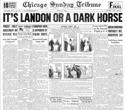 Chicago Sunday Tribune May 17, 1936