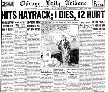 Chicago Daily Tribune May 30, 1936