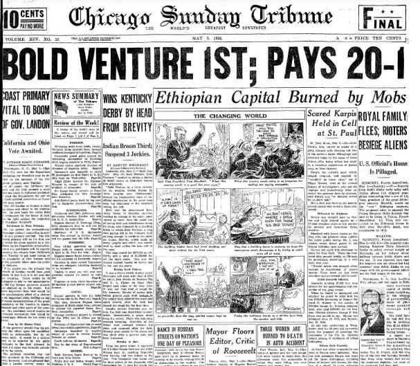 Chicago Sunday Tribune May 3, 1936
