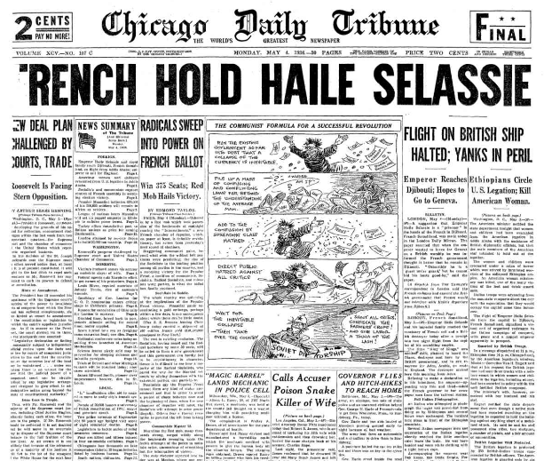 Chicago Sunday Tribune May 4, 1936