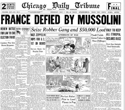 Chicago Daily Tribune May  7, 1936