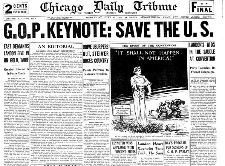 Chicago Daily Tribune June 10, 1936