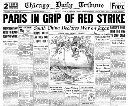 Chicago Daily Tribune June 5, 1936