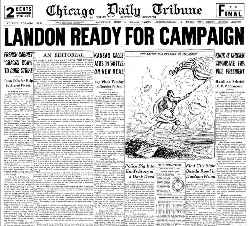 Chicago Daily Tribune June 13, 1936
