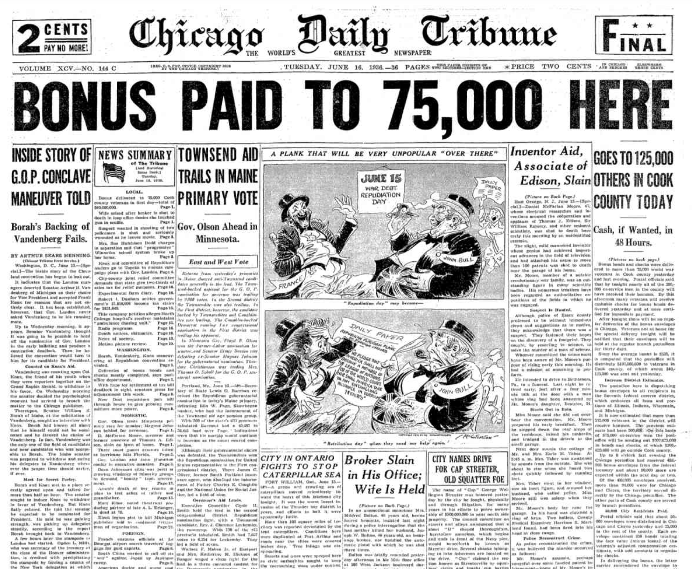 Chicago Daily Tribune June 16, 1936
