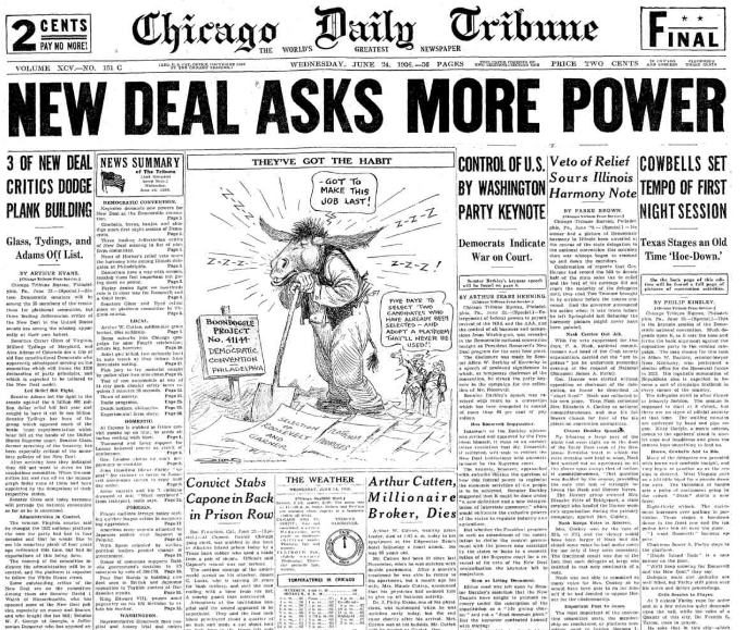 Chicago Daily Tribune June 24, 1936