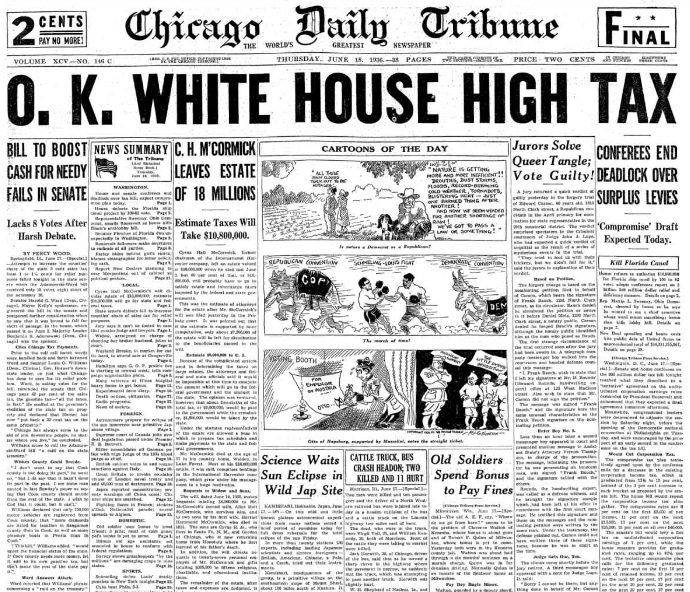 Chicago Daily Tribune June 18, 1936