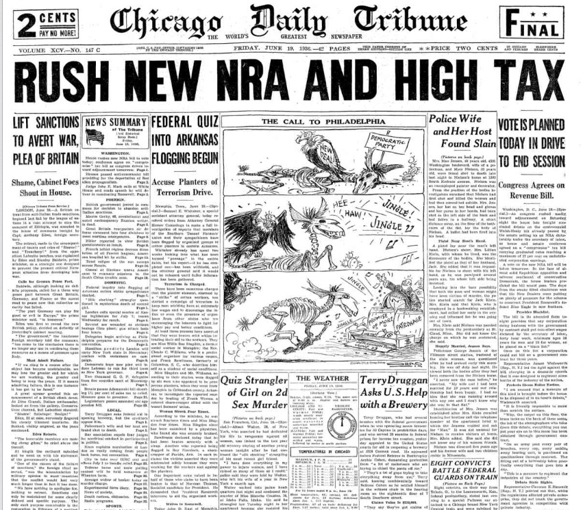 Chicago Daily Tribune June 19, 1936