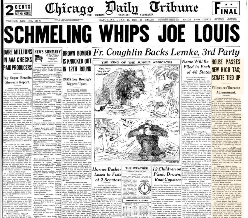 Chicago Daily Tribune June 20, 1936