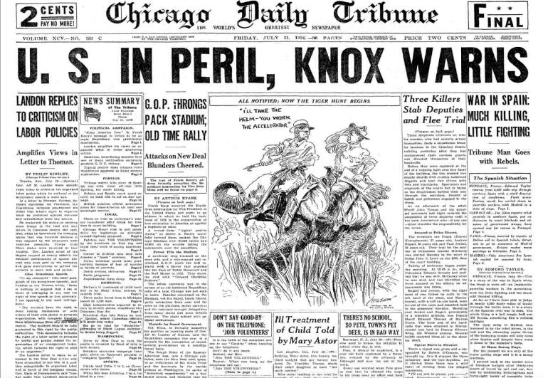 Chicago Daily Tribune July 31, 1936