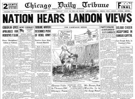 Chicago Daily Tribune July 24, 1936