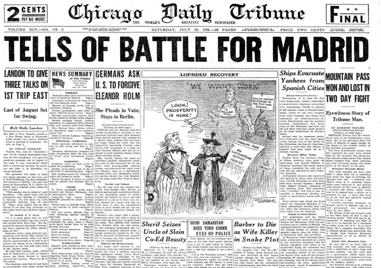 Chicago Daily Tribune July 25, 1936