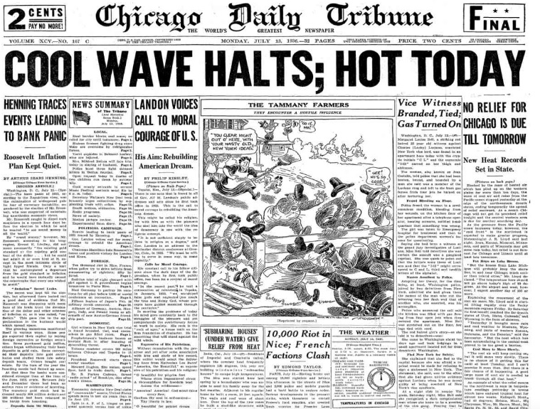 Chicago Daily Tribune July 13, 1936
