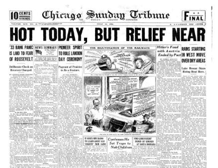 Chicago Sunday Tribune July 12, 1936