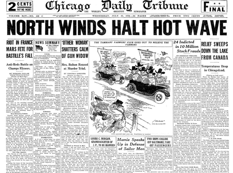 Chicago Daily Tribune July 15, 1936