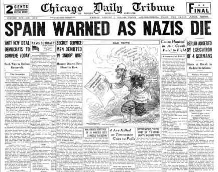 Chicago Daily Tribune August 7, 1936