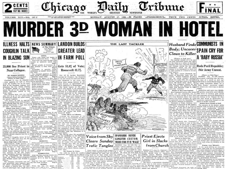 Chicago Daily Tribune August 17, 1936