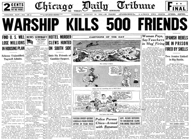 Chicago Daily Tribune August 18, 1936