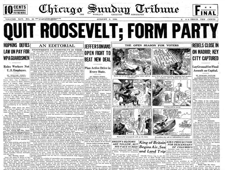 Chicago Sunday Tribune August 9, 1936