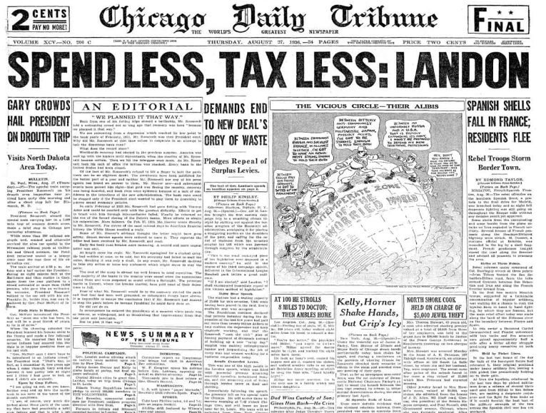 Chicago Daily Tribune August 27, 1936