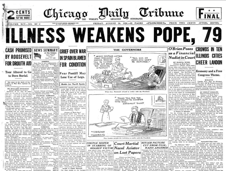 Chicago Daily Tribune August 28, 1936