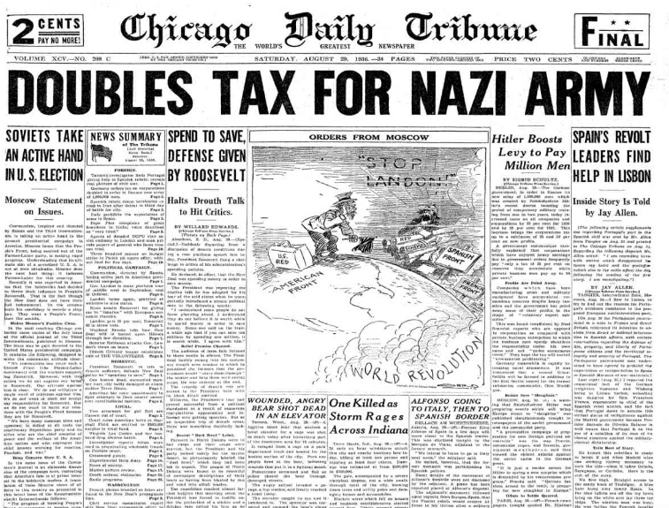 Chicago Daily Tribune August 29, 1936