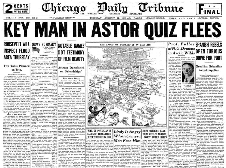 Chicago Daily Tribune August 11, 1936