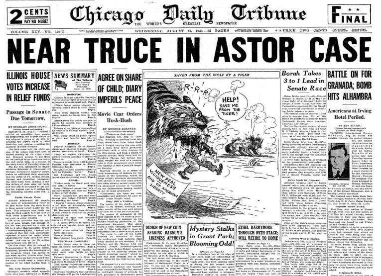 Chicago Daily Tribune August 12, 1936