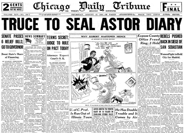 Chicago Daily Tribune August 13, 1936