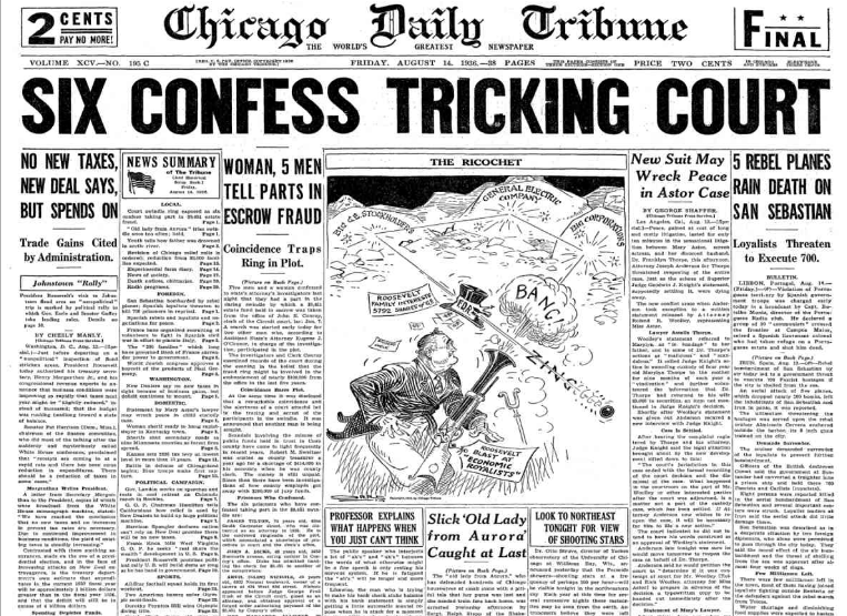 Chicago Daily Tribune August 14, 1936